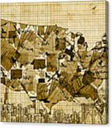 United States Map Collage 4 Canvas Print