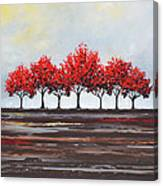 Unity - Red Trees Canvas Print