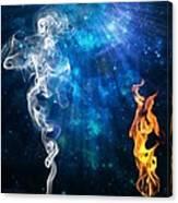 Universal Energies At War Canvas Print