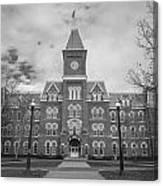 University Hall Black And White Canvas Print