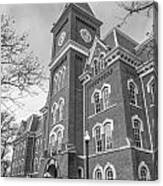 University Hall From Side Black And White  Canvas Print