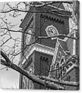 University Hall Tower Black And White  Canvas Print