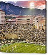 University Of Colorado Boulder Go Buffs Canvas Print