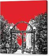 University Of Georgia - Georgia Arch - Red Canvas Print