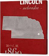 University Of Nebraska Lincoln Cornhuskers College Town State Map Poster Series No 071 Canvas Print