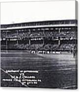 University Of Pittsburgh Vs W And J College Forbes Field Pittsburgh Pa 1915 Canvas Print