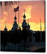 University Of Tampa Minerets At Sunset Canvas Print