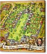 University Of Virginia Academical Village  With Scroll Canvas Print