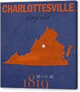 University Of Virginia Cavaliers Charlotteville College Town State Map Poster Series No 119 Canvas Print