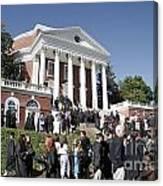 University Of Virginia Rotunda Graduation Canvas Print