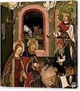 Unknown, Crib Altarpiece, 15th Century Canvas Print