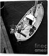 Unloading Fish At Wharf Two Monterey  Circa 1950  Canvas Print