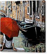 Uno Sguardo Al Canale Canvas Print