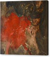 Untitled Abstract - Umber With Scarlet Canvas Print