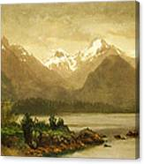 Untitled Mountains And Lake Canvas Print