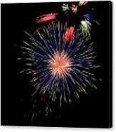 Unusual Fire Works Canvas Print