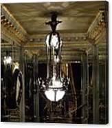 Unusual Lighting Fixture In Laduree On The Champs De Elysees Canvas Print