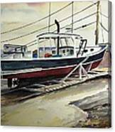 Up For Repairs In Perkins Cove Canvas Print