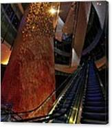 Up The Down Escalator Canvas Print