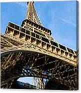 Up The Eiffel Tower 1 Canvas Print