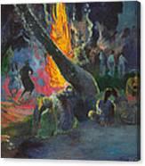 Upa Upa.the Fire Dance Canvas Print