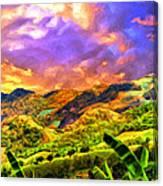Upcountry Maui Sunset Canvas Print