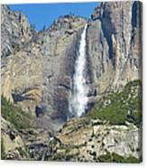 Upper And Lower Yosemite Falls Canvas Print