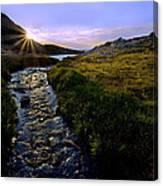 Upper Blue Sunrise Canvas Print