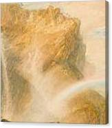 Upper Fall Of The Reichenbach - Rainbow Canvas Print