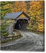 Upper Falls Covered Bridge Canvas Print