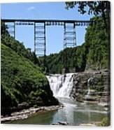 Upper Falls Of The Genesee River  Canvas Print