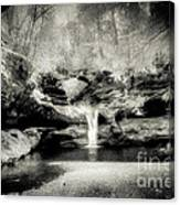 Upper Falls Old Mans Cave In Infrared Canvas Print