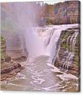 Upper Falls On The Genesee River Canvas Print