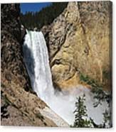 Upper Falls Yellowstone National Park Canvas Print