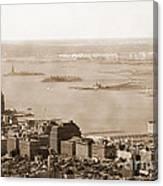 Upper New York Bay Vintage Canvas Print