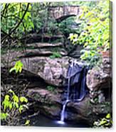 Upper Old Mans Cave Falls Canvas Print