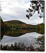 Upper Saranac Bay In Fall Canvas Print
