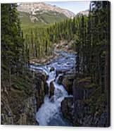 Upper Sunwapta Falls - Canadian Rockies Canvas Print