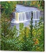 Upper Tahquamenon Falls In Early Autumn Canvas Print
