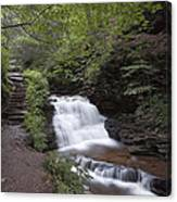 Upper Tier Of Mohican Falls Canvas Print