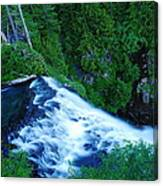 Upper View Of Narada Falls Canvas Print