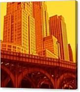 Upper West Side And Hudson River Manhattan Canvas Print
