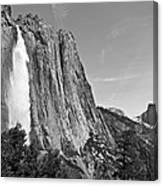 Upper Yosemite Fall With Half Dome Canvas Print