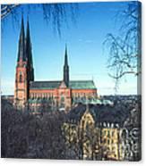 Uppsala Cathedral Canvas Print