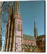 Uppsala Cathedral Spires  Canvas Print