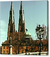Uppsala Cathedral Steeples Canvas Print