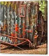 Upside Down Derailed Box Car Canvas Print