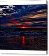 Upside Down Peace Sign Sunrise Canvas Print