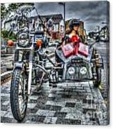 Ural Wolf 750 And Sidecar Canvas Print