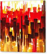 Urban Abstract Glowing City Canvas Print
